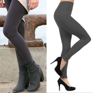 Pants - Charcoal high waist fleece lined leggings